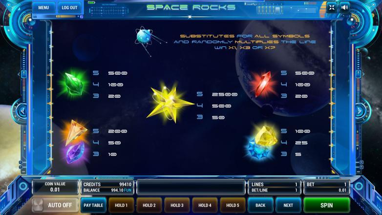 Изображение игрового автомата Space Rocks 3
