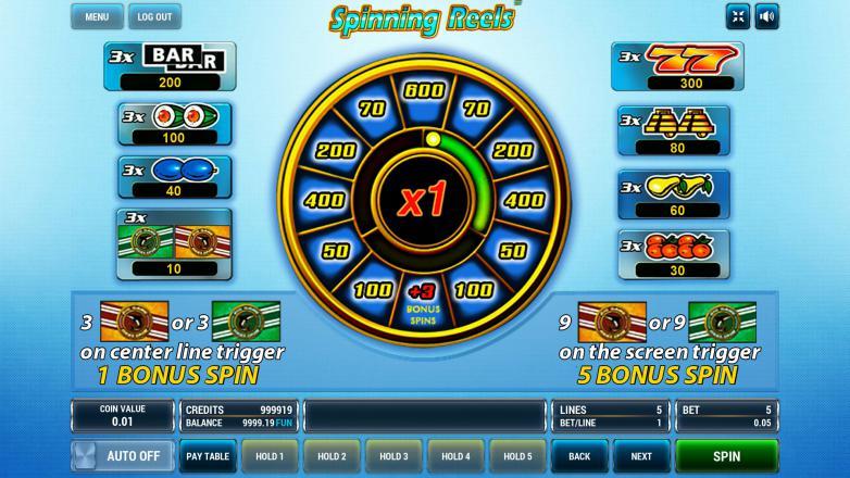 Изображение игрового автомата Spinning Reels 3