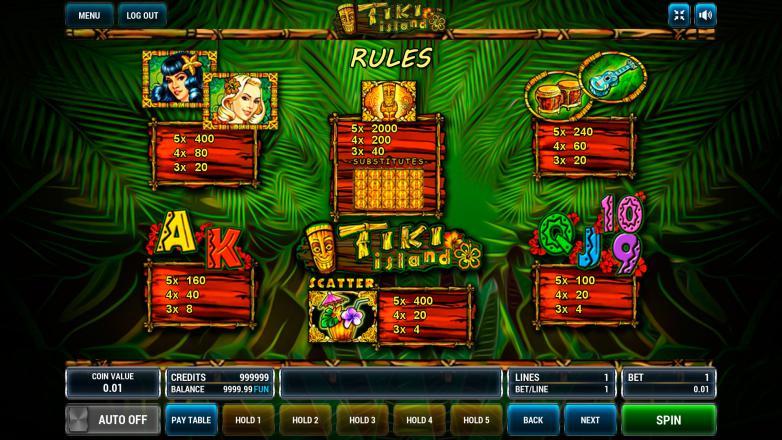 Изображение игрового автомата Tiki Island 3