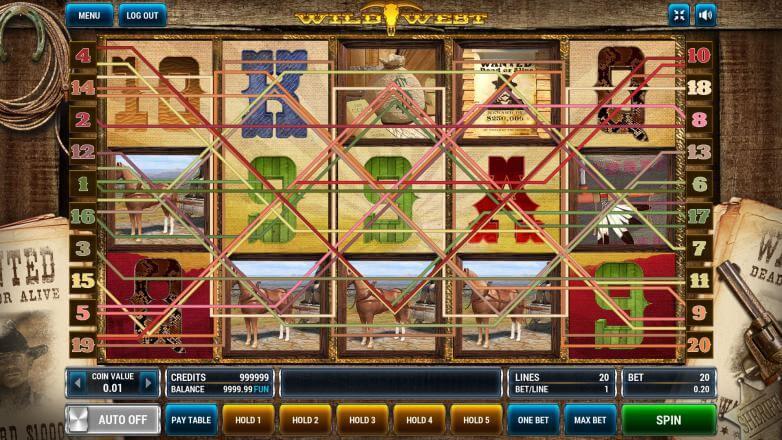 Изображение игрового автомата Wild West 1