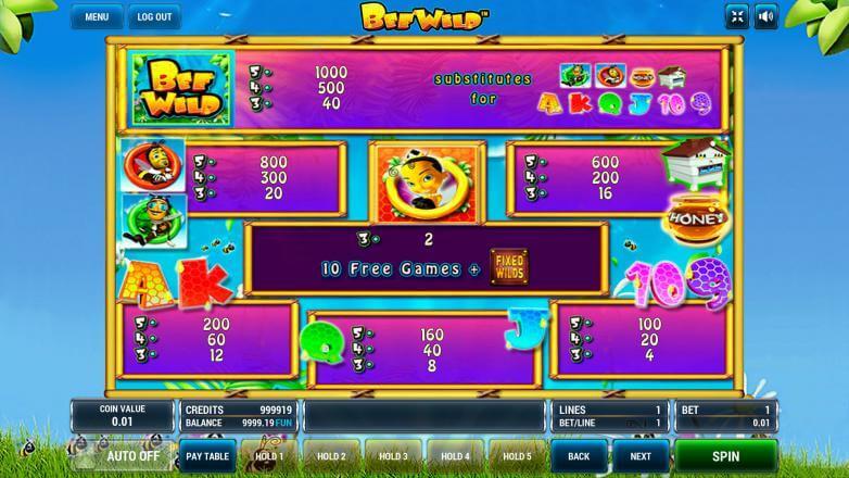 Изображение игрового автомата Bee Wild 3