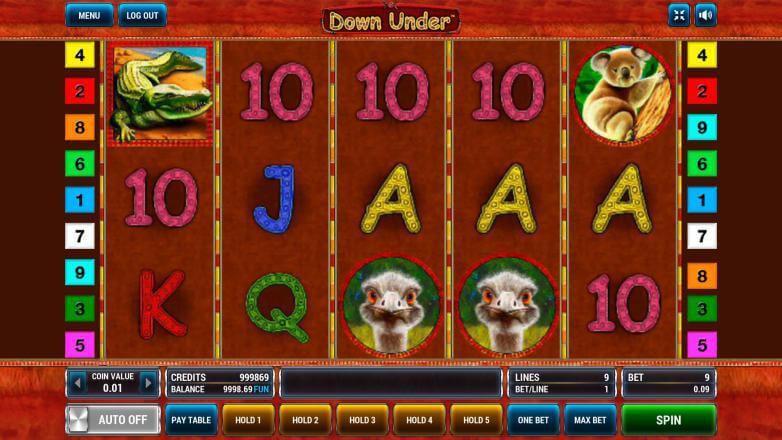 Изображение игрового автомата Down Under 2