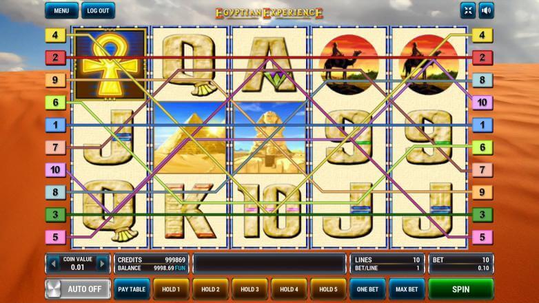 Изображение игрового автомата Egyptian Experience 1