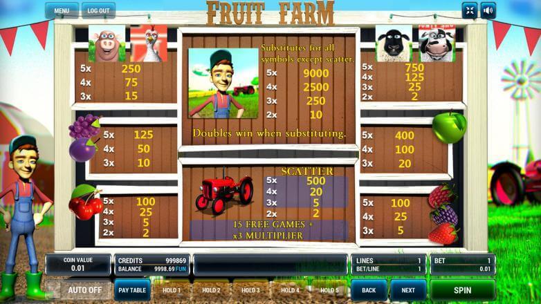 Изображение игрового автомата Fruit Farm 3