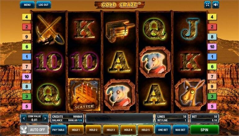Изображение игрового автомата Gold Craze 2