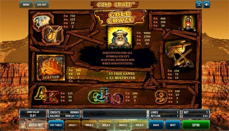 Изображение игрового автомата Gold Craze 3