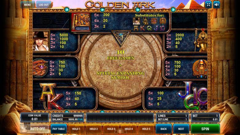 Изображение игрового автомата Golden Ark 3