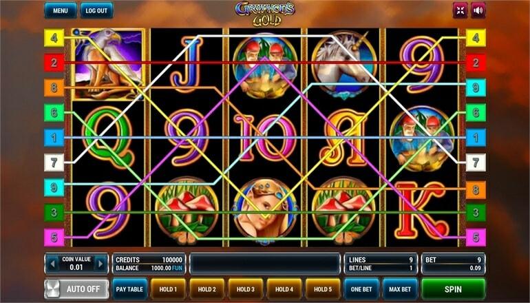 Изображение игрового автомата Gryphon's Gold 1