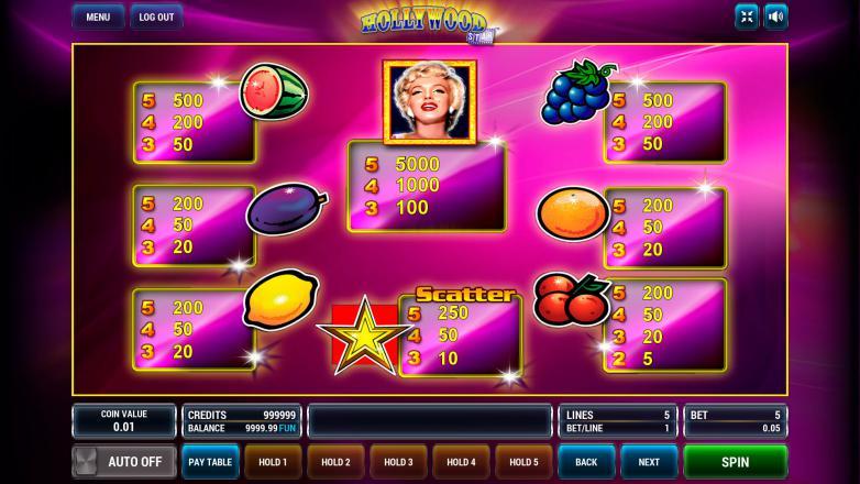 Изображение игрового автомата Hollywood Star 3