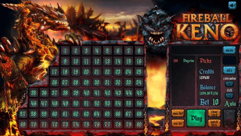 Изображение игрового автомата Keno FIREBALL 1