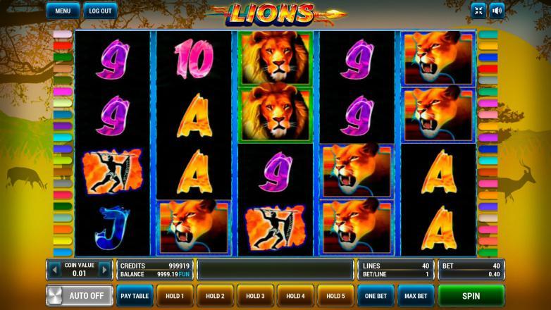 Изображение игрового автомата Lions 2