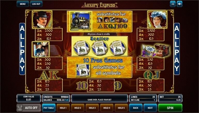 Изображение игрового автомата Luxury Express 3