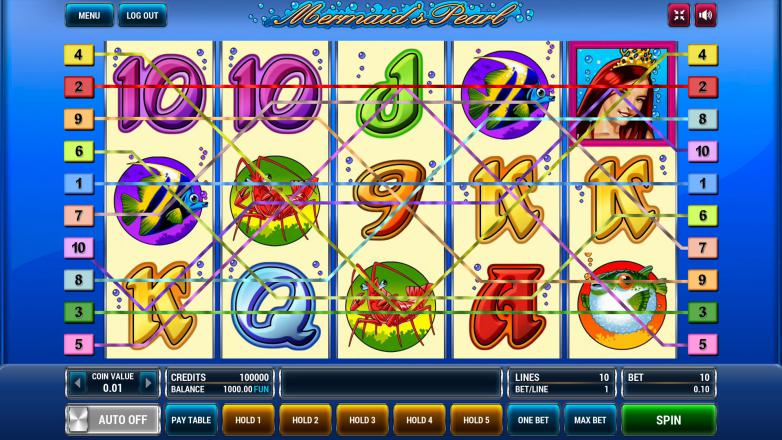 Изображение игрового автомата Mermaid's Pearl 1