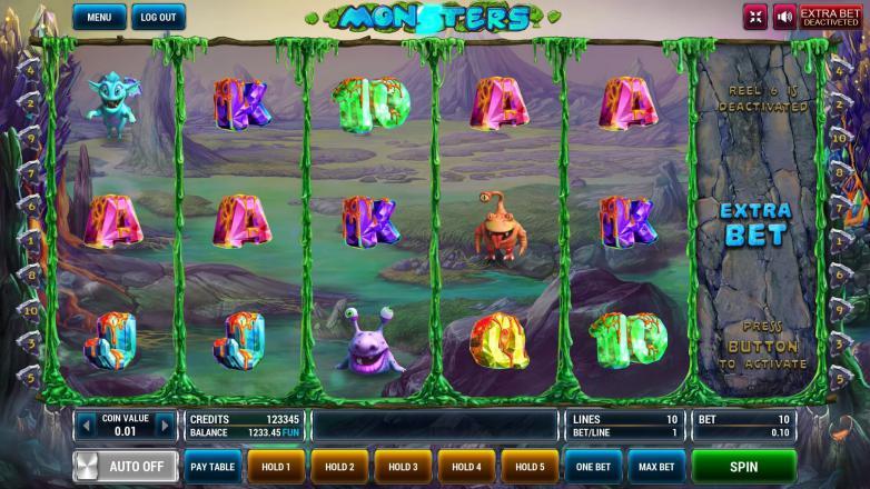 Изображение игрового автомата Monsters 2