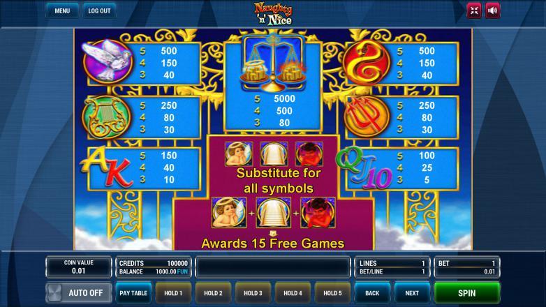 Изображение игрового автомата Naughty 'n' Nice 3
