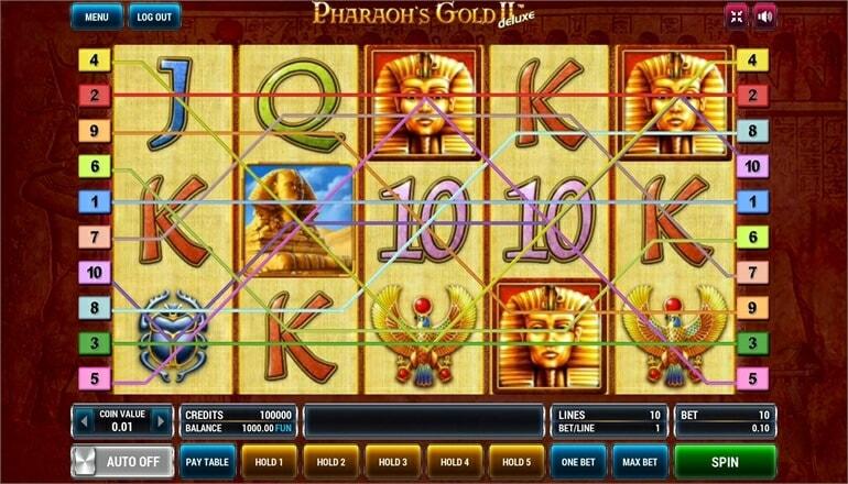 Изображение игрового автомата Pharaoh's Gold 2 Deluxe 1