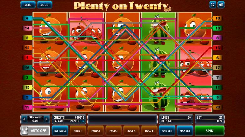 Изображение игрового автомата Plenty on Twenty HOT 1
