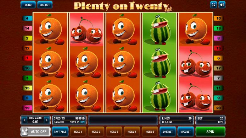 Изображение игрового автомата Plenty on Twenty HOT 2