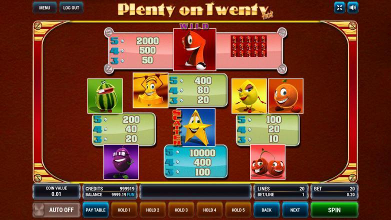 Изображение игрового автомата Plenty on Twenty HOT 3