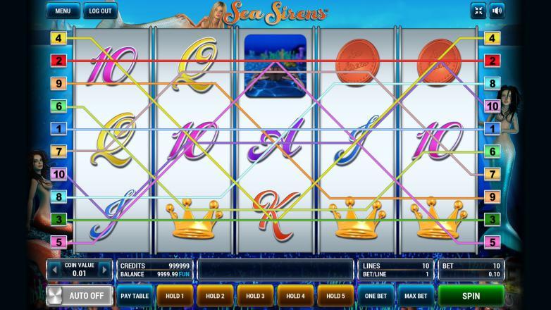 Изображение игрового автомата Sea Sirens 1