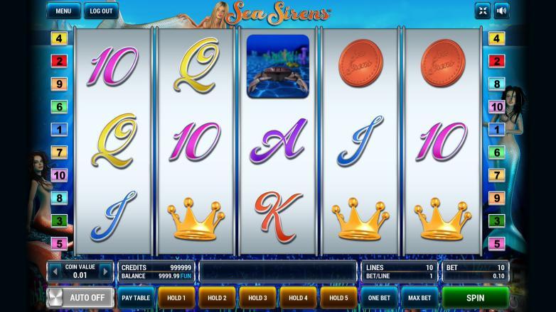 Изображение игрового автомата Sea Sirens 2