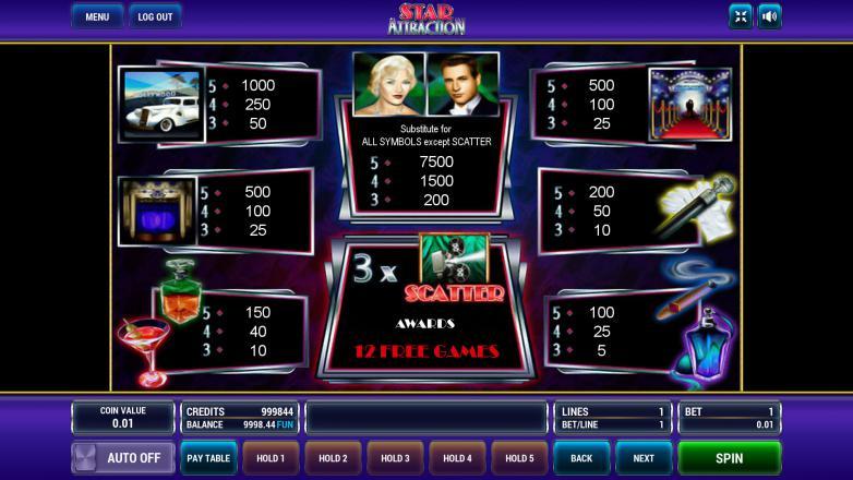 Изображение игрового автомата Star Attraction 3
