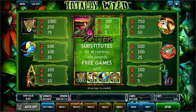 Изображение игрового автомата Totally Wild 3