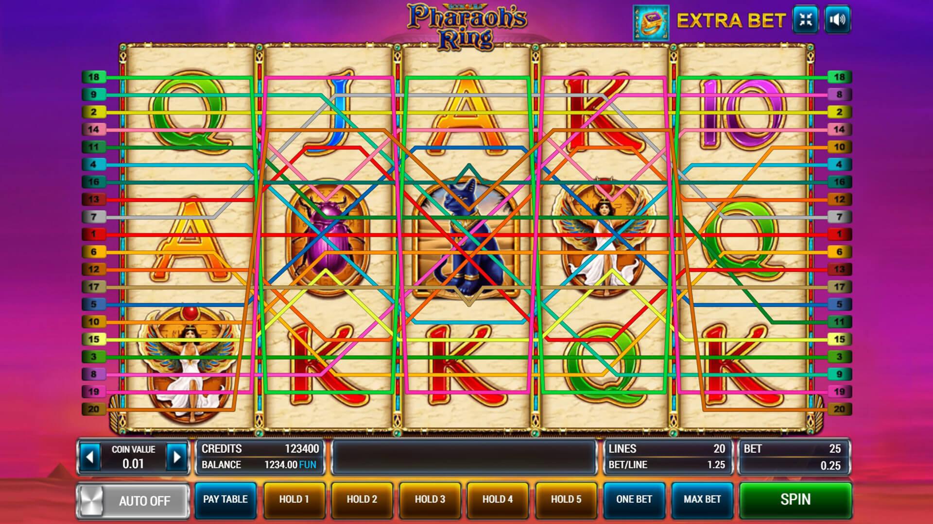 Изображение игрового автомата Pharaoh's Ring 3