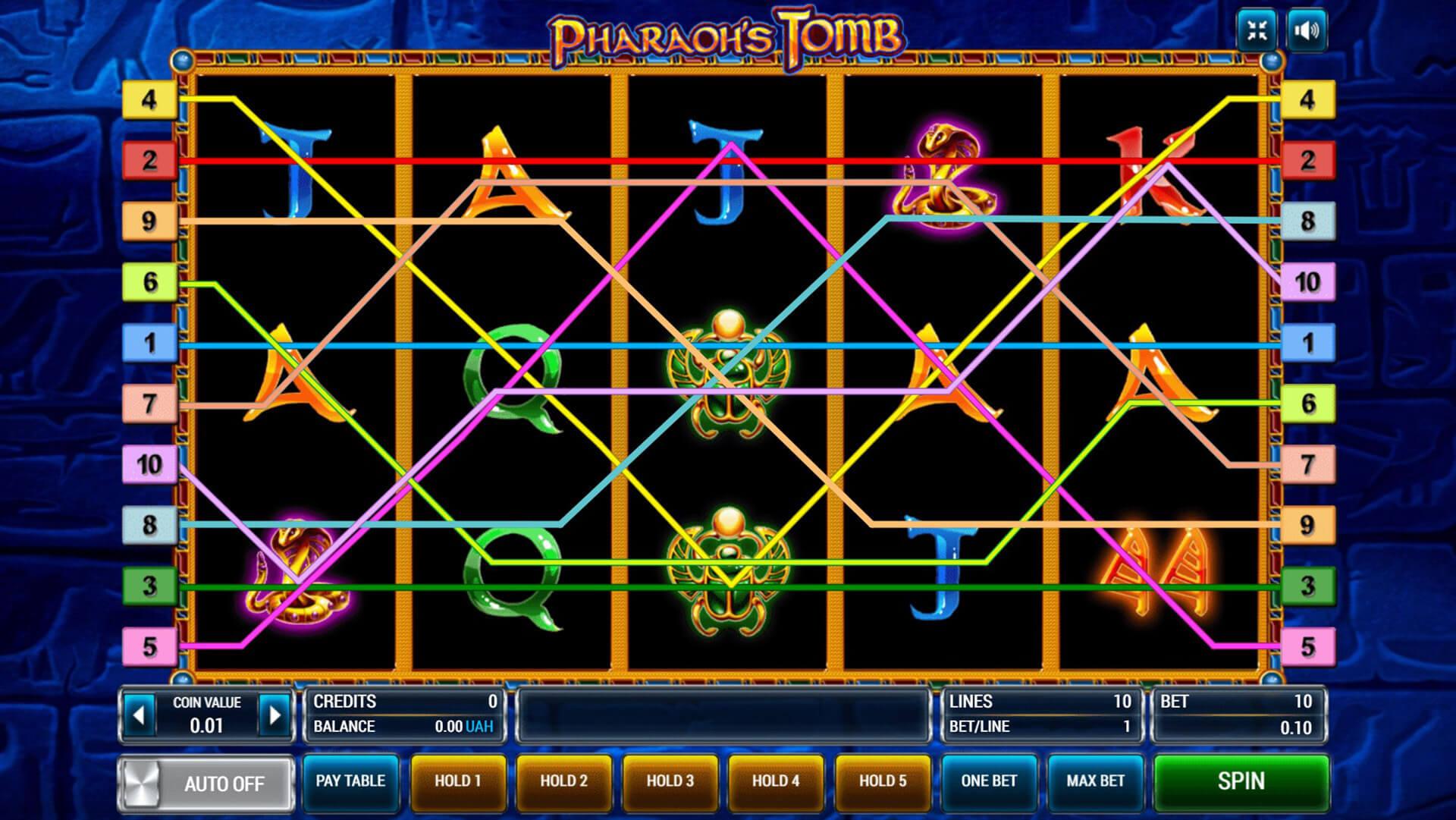 Изображение игрового автомата Pharaoh's Tomb 2