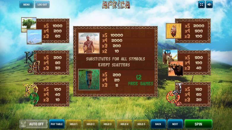 Изображение игрового автомата Afrika 3