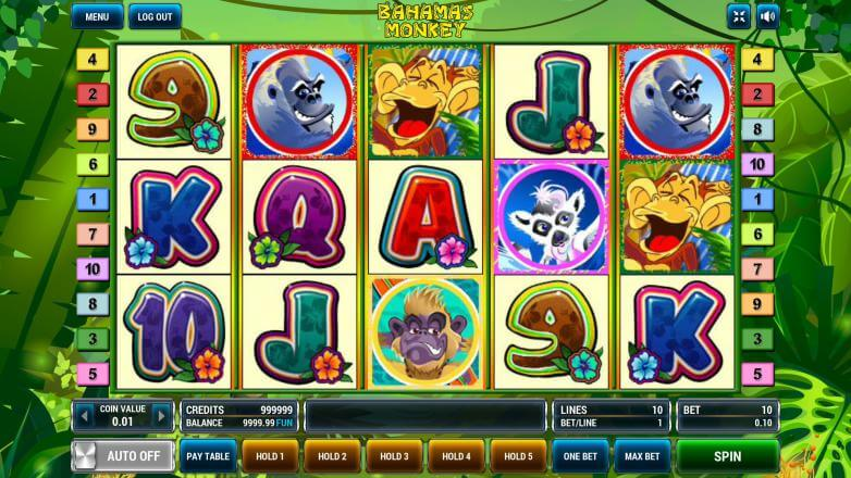 Изображение игрового автомата Bahamas Monkeys 2
