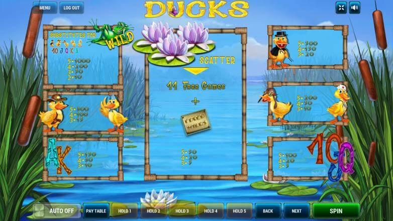 Изображение игрового автомата Ducks 3