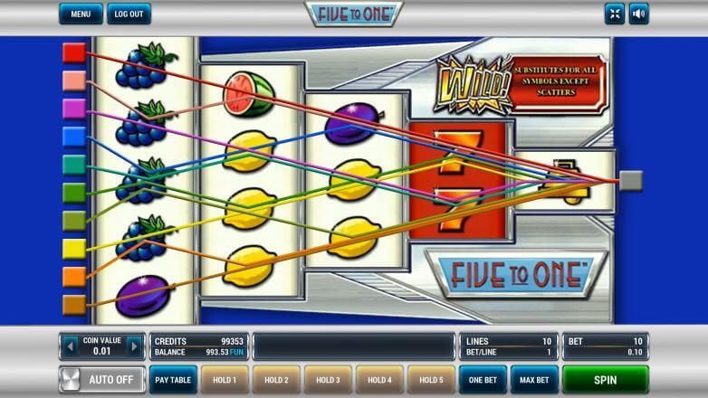 Изображение игрового автомата Five to One 1