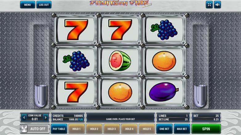Изображение игрового автомата Fruits on Fire Deluxe 2