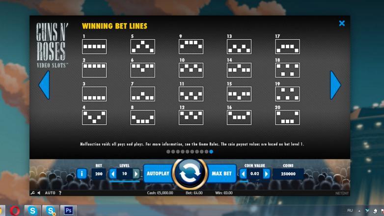 Изображение игрового автомата Guns'n'Roses 3