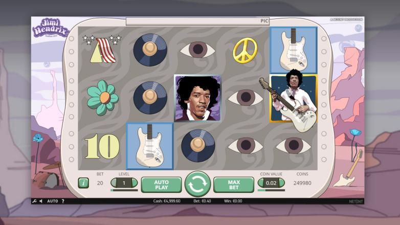 Изображение игрового автомата Jimi Hendrix 2