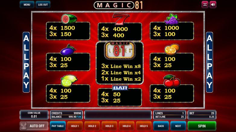 Изображение игрового автомата Magic 81 3