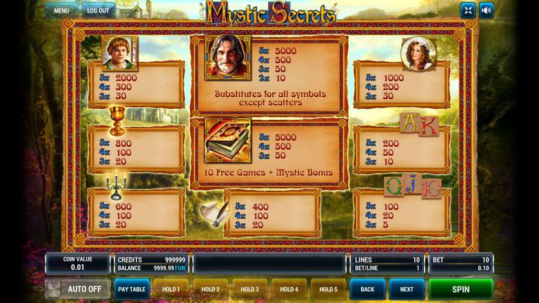 Изображение игрового автомата Mystic Secrets 3