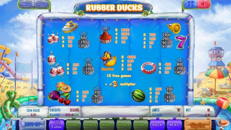 Изображение игрового автомата Rubber Ducks 3
