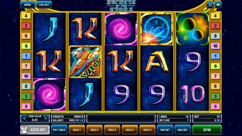 Изображение игрового автомата Secrets of the Stars 2