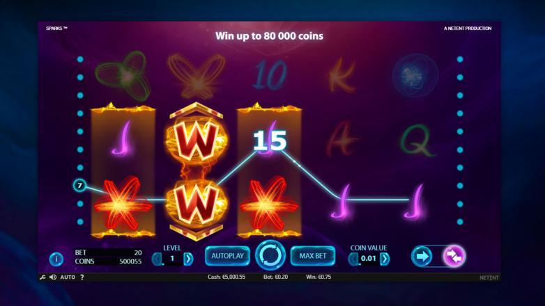Изображение игрового автомата Sparks 2