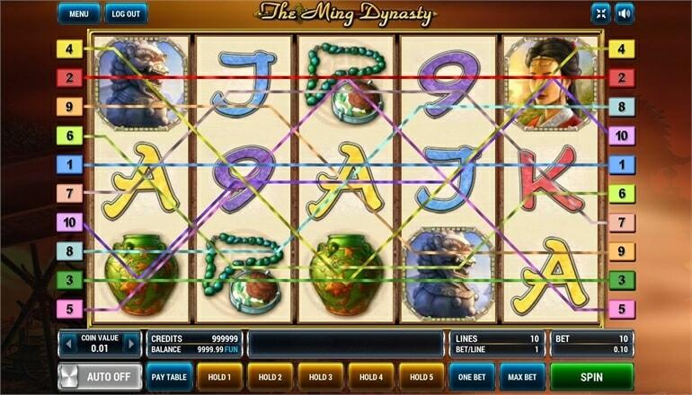 Изображение игрового автомата The Ming Dynasty 1