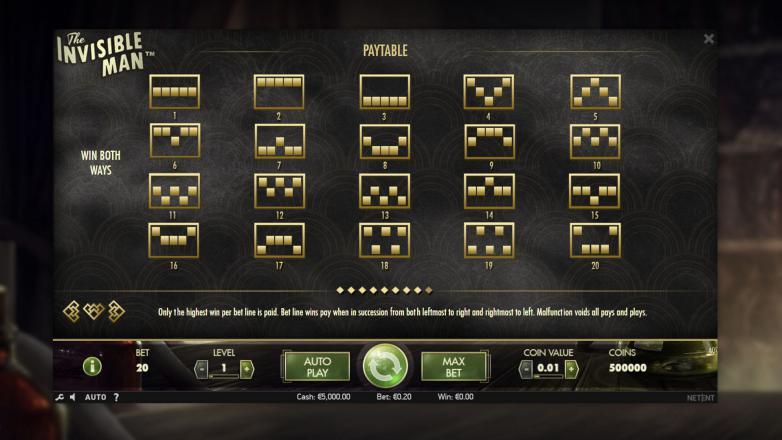 Изображение игрового автомата The invisible Man 3