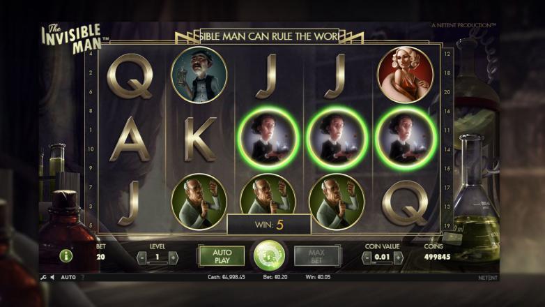 Изображение игрового автомата The invisible Man 2