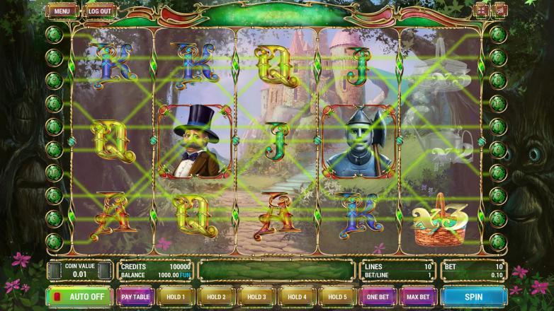 Изображение игрового автомата The Wizard of Oz 1