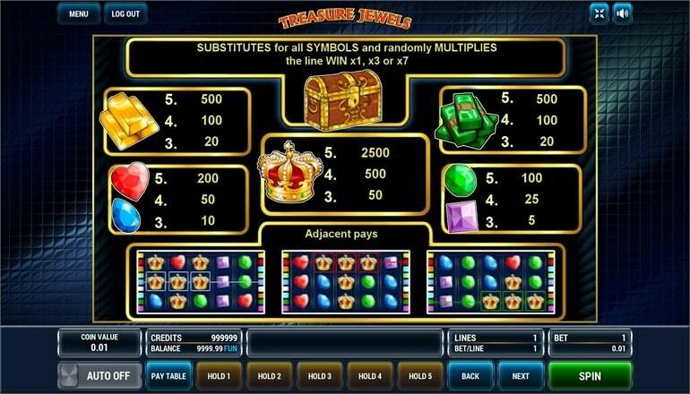 Изображение игрового автомата Treasure Jewels 3