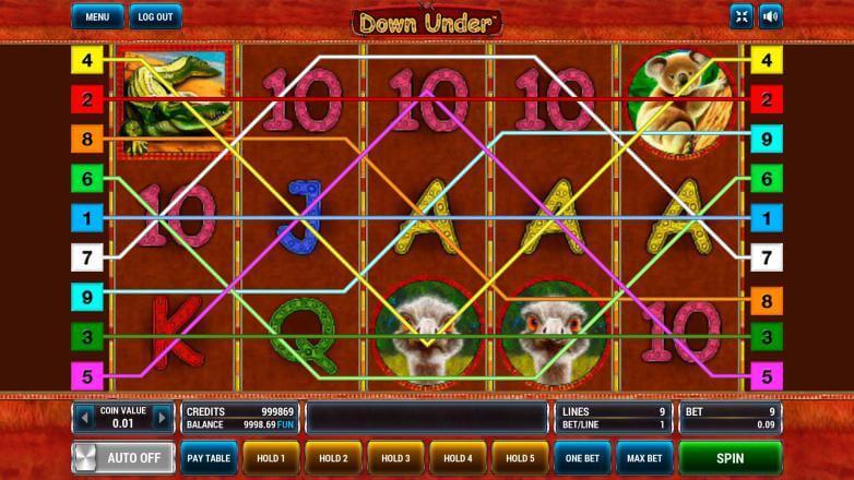 Изображение игрового автомата Down Under 1