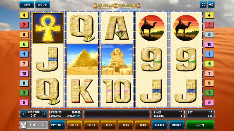 Изображение игрового автомата Egyptian Experience 3