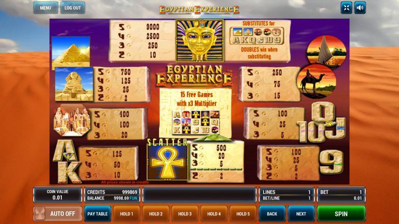 Изображение игрового автомата Egyptian Experience 2