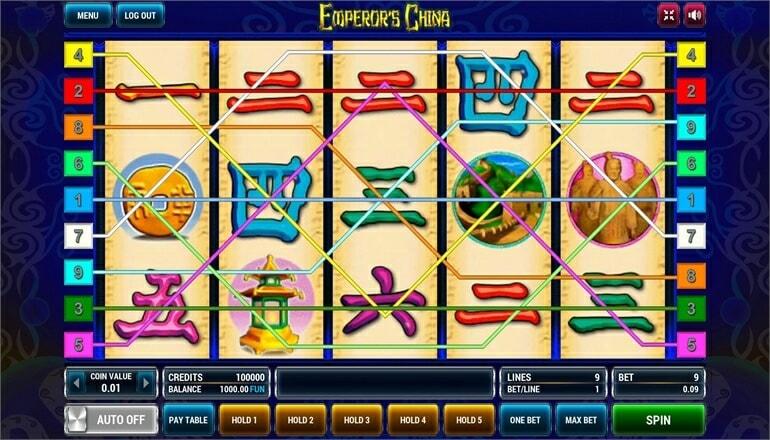 Изображение игрового автомата Emperor's China 1